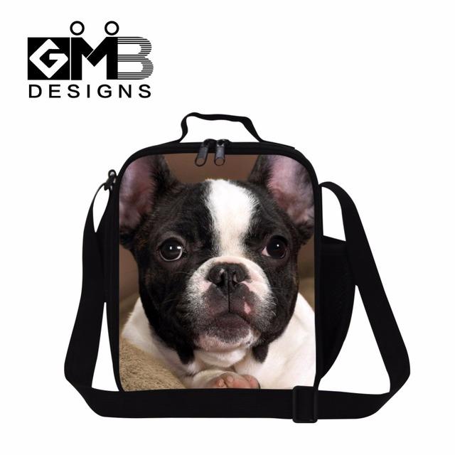 Mejor bolsa de Almuerzo con aislamiento para Niñas, Animal Perro Impreso Térmica Almuerzo contenedor para Adolescente, Hombro bolsa de comida, bolsa de almuerzo para adultos