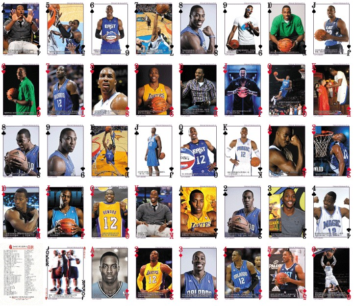0e80b917f5c 24 Choice NBA All Stars Collection Playing Cards