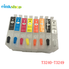 T3240 T3241 T3242 T3243 T3244 T3247 T3248 T3249 Refillable Cartridge For Epson P400 Printer With Chip Surecolor