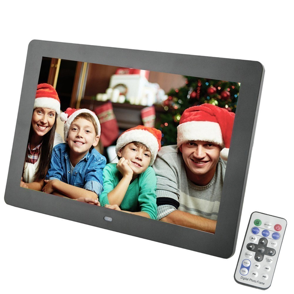 10 дюймов экран TFT светодио дный Подсветка HD 1024*600 цифровая фоторамка электронный альбом фото музыка MP3 MP4 Porta Retrato цифровой