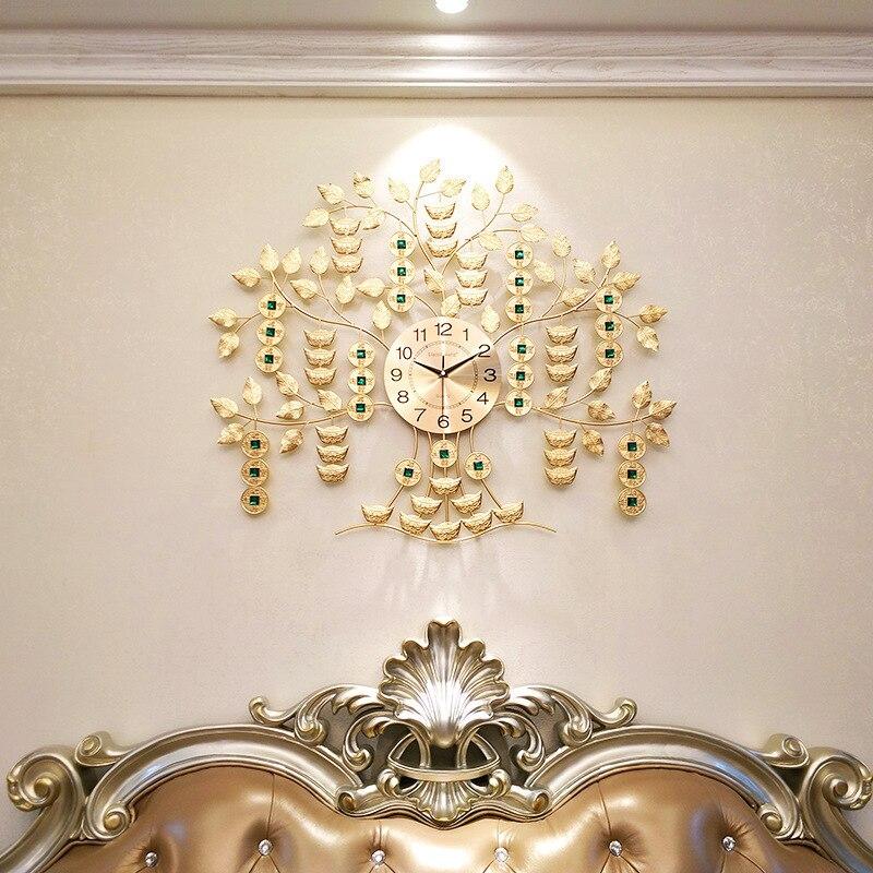 Free shipping Qianshu wall clock living room Chinese wind clock wall clock home silent clock decoration wall watch fortune