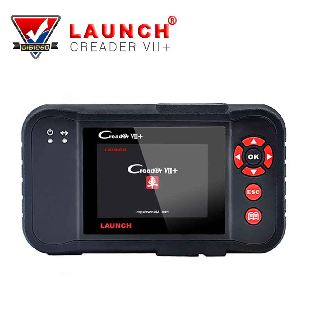 Engine/Transmission/Airbag/ABS Testing Tool Auto Code Reader Launch 100% Original Creader Vii+ OBDII Auto scanner Creader plus