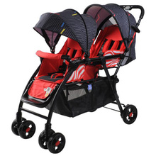 Twin baby stroller Brand lightweight cart Portable Folding Baby carriage can sit can lie 2 in 1 mini size Baby trolley Baobaohao цены онлайн