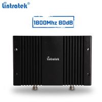 Powerful 80dBi gsm repeater 1800Mhz DCS cellular signal booster 2g 3g 4g LTE signal amplifier AGC MGC with LCD display #6.5