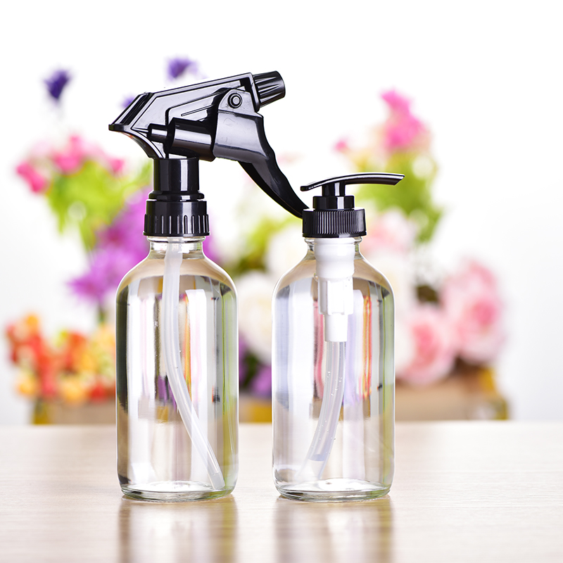 240ml Glass Refillable Bottle Portable Travel Spray Bottles Lotion Facial Cleanser Shampoo Shower Gel Cosmetic Container 2pcs aqua glycolic facial cleanser 6 ounce bottle