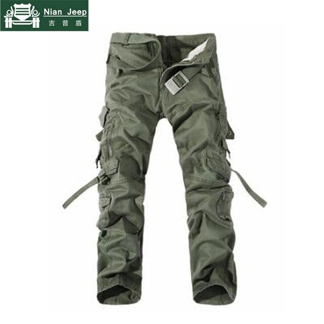 2018 Brand Mens Cargo Pants Army Military Cotton Pants pockets Baggy Mens Pants Sweatpants track pants pantalon homme Size 40 42