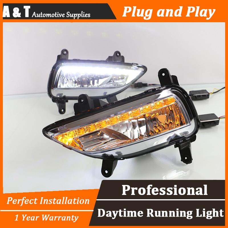 car styling For Kia forte LED DRL For Kia forte led fog lamps led daytime running lights High brightness guide LED DRL монитор asus vx239h black