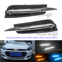 цена на 2Pcs/Set 9 LED Daytime Running Light DRL for Chevrolet Cruze 2009 2010 2012 2013 2014 DRL With Turning Signal Day Light