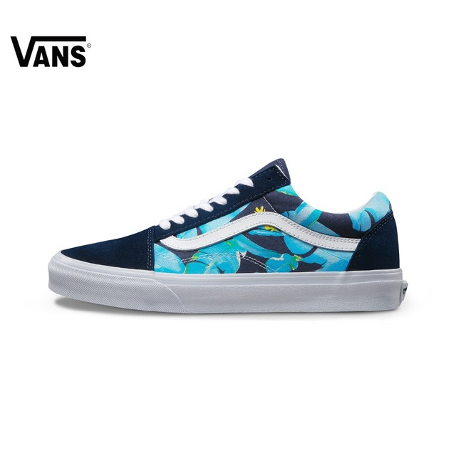 Original Vans Classic Vans Summer Unisex Skateboarding Shoes Old Skool Sports Shoes Sneakers free shipping