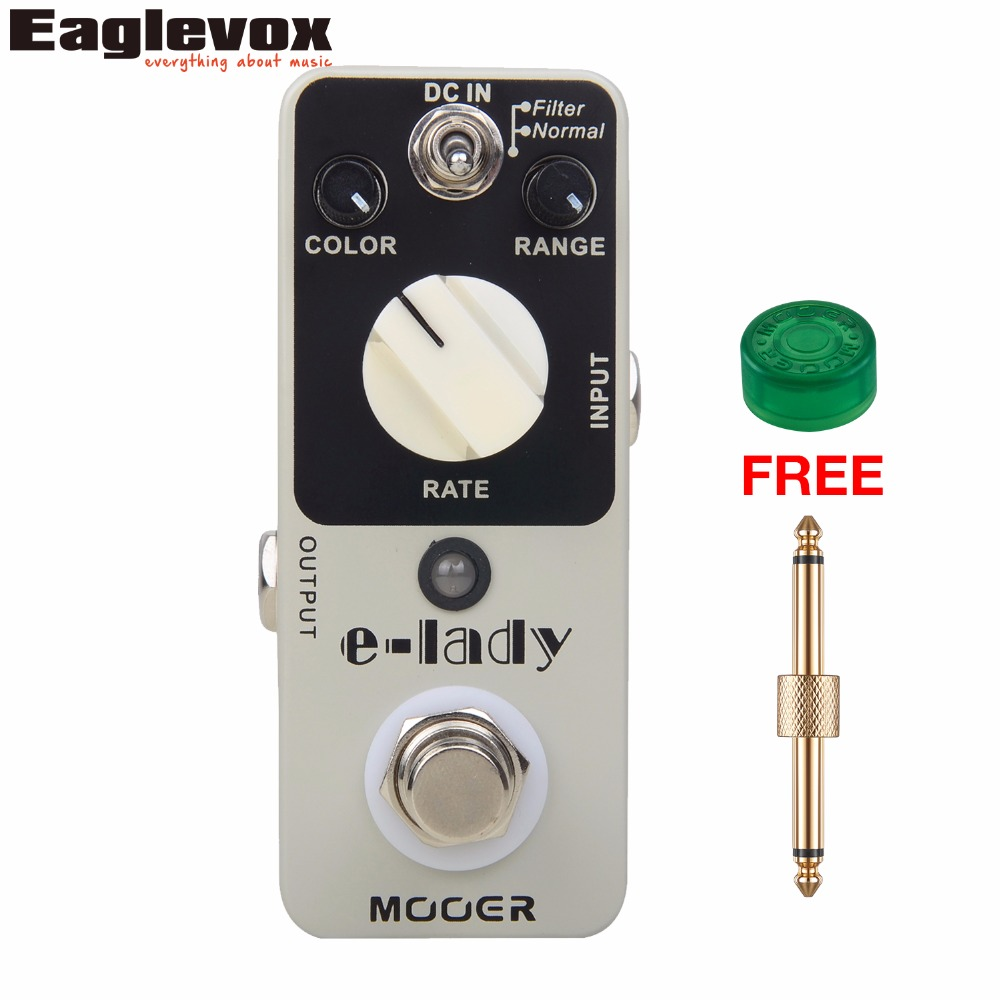 Mooer E-lady Flanger Guitar Effect Pedal Analog Effects True bypass with Free Connector and Footswitch Topper mooer ensemble king chorus effect pedal analog guitar effects true bypass with free connector and footswitch topper