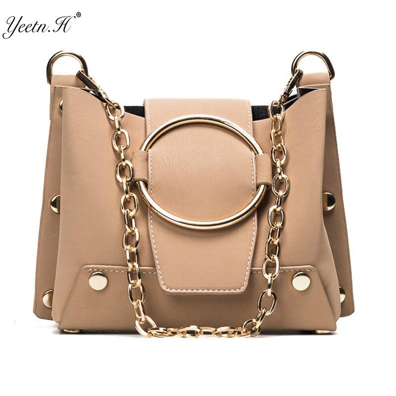Yeetn.H Women Messenger Bag Style PU Leather Female Bag Women Handbag New Fashion Bags shoulder strap across a handbag Y4112