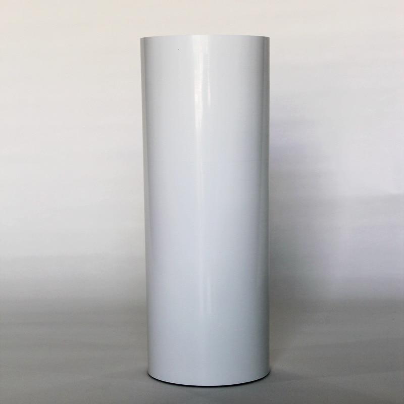 (50 cm x 25 M) PU Flex Film adhésif couleur blanche vinyle de transfert de chaleur pour vêtements PU fer sur vinyle Film pour t-shirts (20IN * 82.02FT)