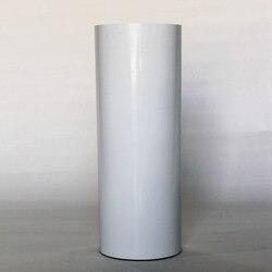 (50cm x 25M) PU Flex película adhesiva Color blanco Transferencia de Calor vinilo para la ropa PU hierro en película de vinilo para camisetas (20IN * 82.02FT)