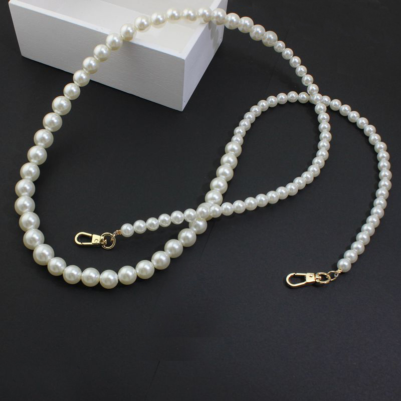 1-2-5 Pieces,120cm Purse Handle Handbag Handmade Pearl Long Chain,fashion Ladies Female Wedding Evening Bag Accessories Luggage & Bags