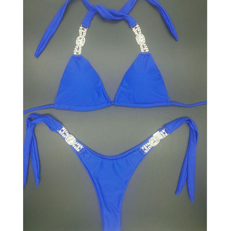 2018 venus vacation Crystal Bikini Set Brazilian Padded Bathing Suit Push Up Swimwear Women Bikinis Sexy Bandage Diamond bikini