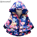 KEAIYOUHUO 2017 New Winter Girls Coats Long Sleeve Outerwear Printing Jackets For Girls Cotton Children Clothes Girls Down Coat