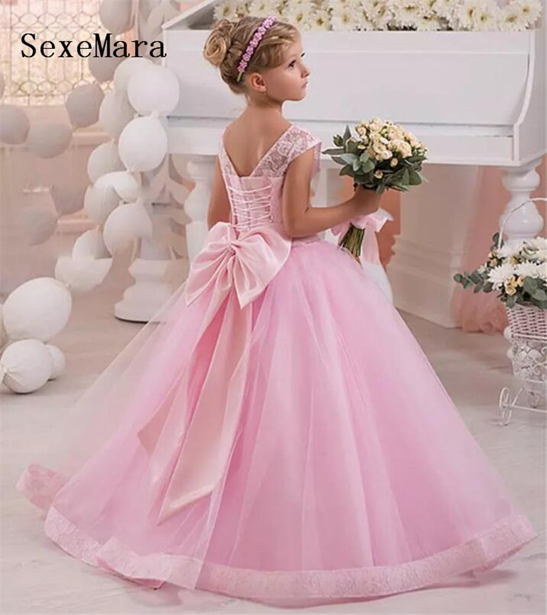 fb907fe10 New Pink Ball Gowns For Princess Pageant Gowns Kids Birthday Party ...