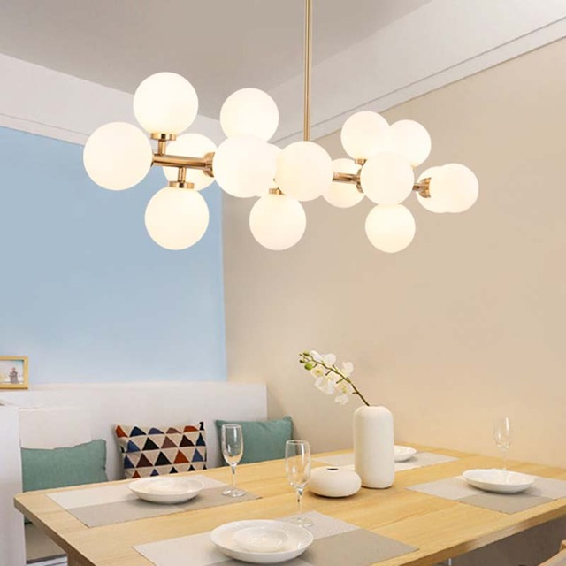 Nordic modern pendant lights glass l& black/gold magic beans simple hanging l& ball bar & Nordic modern pendant lights glass lamp black/gold magic beans ...
