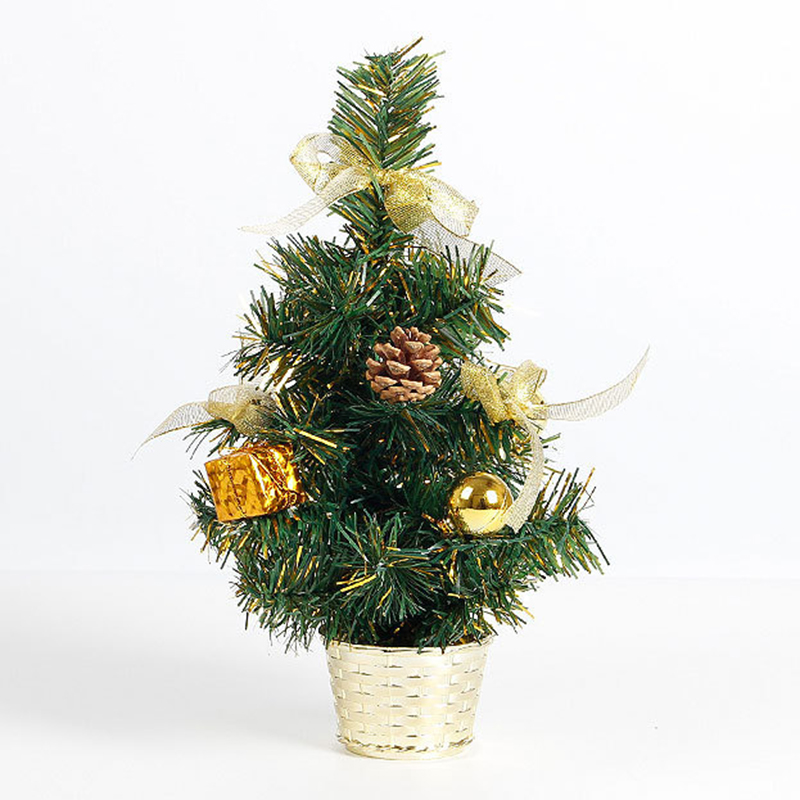 New 45cm New Christmas Trees Xmas Decoration Placed In The Desktop Festival Home Party Ornaments For New Years Supplies