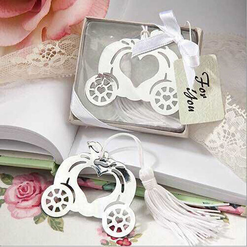 100pcs Cinderella Pumpkin Carriage Bookmark Wedding Favors And Gifts Wedding Supplies Wedding Souvenirs Wedding Gifts For