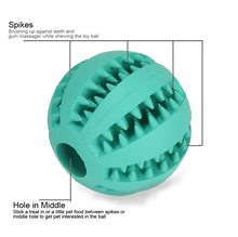 Nature Rubber Chewing Pet Toy Ball Dental Treat And Training Bounce Ball For Dog