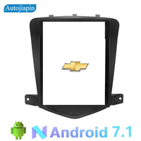 AUTOJIAPIN 9.7 inches Vertical Screen Android 7.1 Car Multimedia player GPS Navi for Chevrolet Cruze 2009 2014 with full Touch