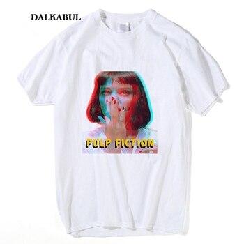 Frauen Klassische Film Pulp Fiction T shirt ICH Sagte Gott verdammt MIA WALLACE Tees Sommer Männer 100% Baumwolle Quentin Tarantino top Kleidung