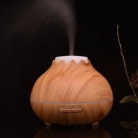 ICOCO 400ml Wood Grain Air Humidifier Essential Oil Diffuser Aromatherapy Electric Mist Maker With LED Lights