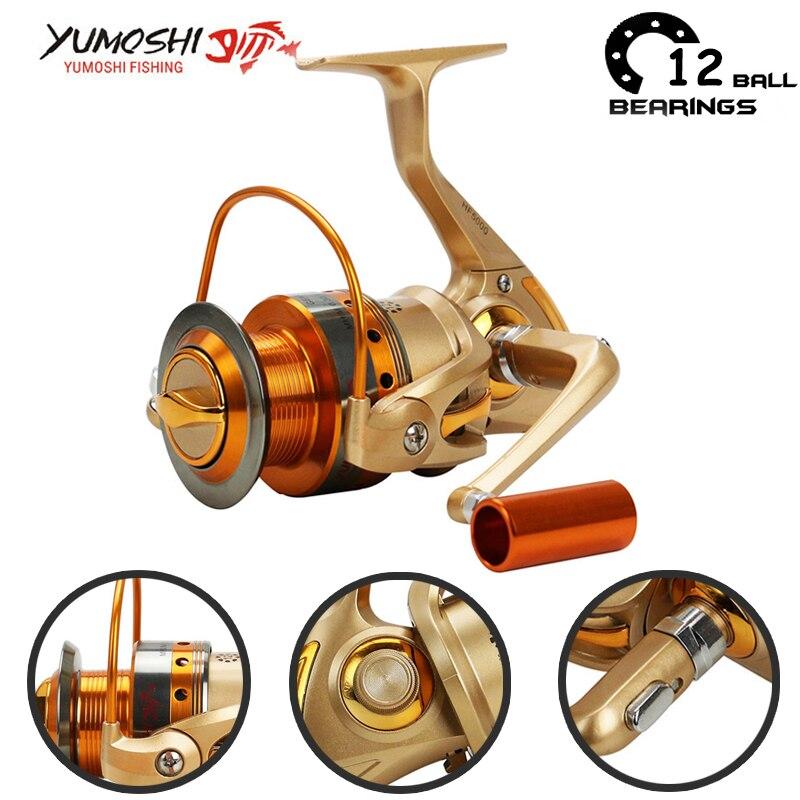Yumoshi 12BB 5.2: 1 500-9000 fém fonó horgász orsó ponty fonó - Halászat