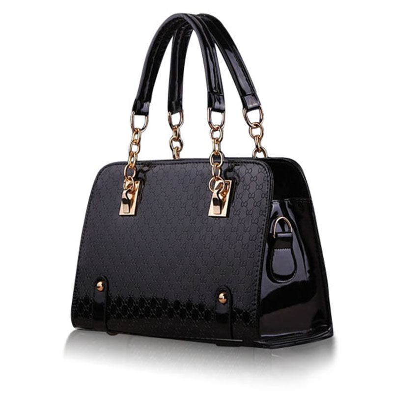 Fashion Women Handbag Shoulder Bags PU Leather Ladies Messenger Hobo Bag Female Black Shopping Tote Purse Bag high quality women handbag shoulder bags tote purse leather messenger hobo bag