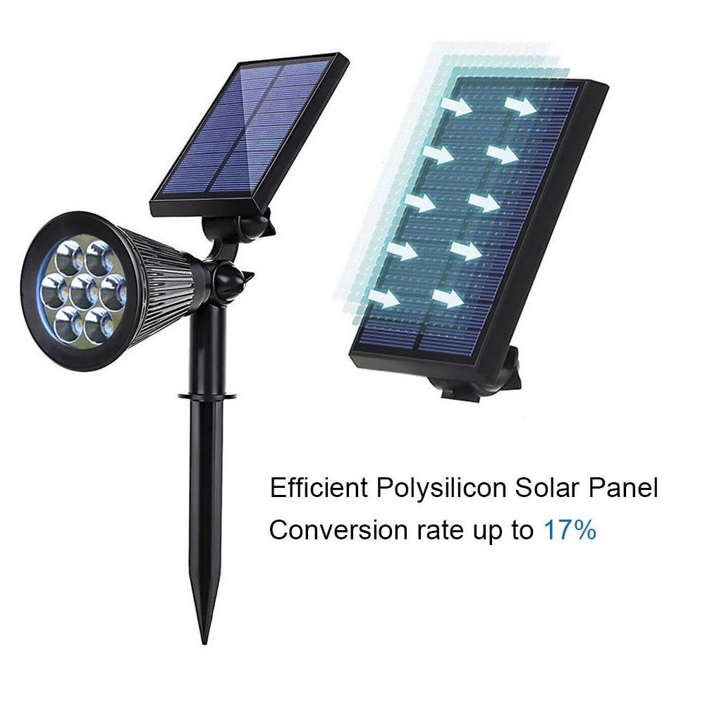 Diodo emissor de luz solar jardim spotlight