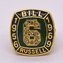 Hall of fame 1956 1969 Bill Russell championship ring big size 11 drop shipping