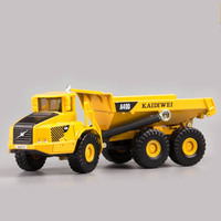 KAIDWEI 1 87 Scale Dumper Truck Model Tilting Cart Engineering A40D Truck Alloy Model Toys Excavator