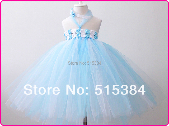 0257a8b2d summer beach blue white tutu dresses for princess floral dresses for ...