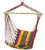Erwachsene Bunten Beiläufigen Hängenden Stühle Im Freien Kinder Leinwand Gestreiften Schaukelstuhl Bestnote Innen Terrasse Schaukel