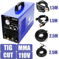 3 in 1 Multifunction Welding Machine 520TSC Standard KIT 1.5M Clamp & 2.5M Torch Cutter For Metal Plasma Welder
