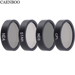 CAENBOO Drone Filters ND4 ND8 ND16 Neutral Density Star Lens Filter Set Protector For DJI Mavic Air Camera Accessories 4pcs/set