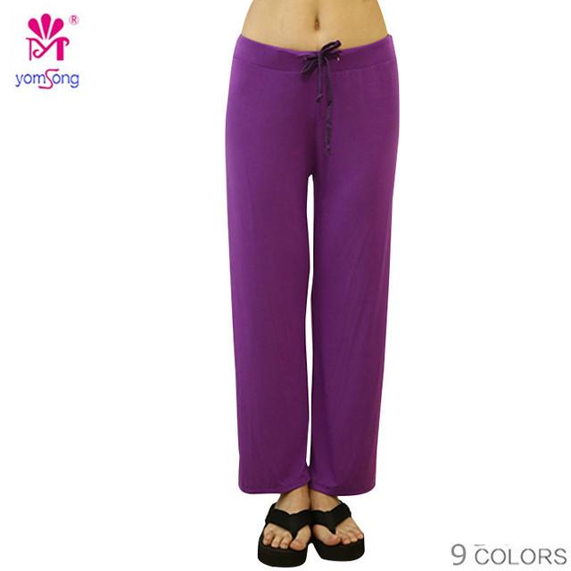 2016 Yomsong Comforterbable Pantalones De Pijama Ropa de Dormir de Las Mujeres Más Tamaño Pantalones Modelo Pantalones de Algodón Suave 322