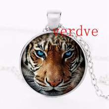 new hot Tiger Pendant Tiger Necklace Silver plated pendant Tiger Animal Jewelry Silver Chain Necklace