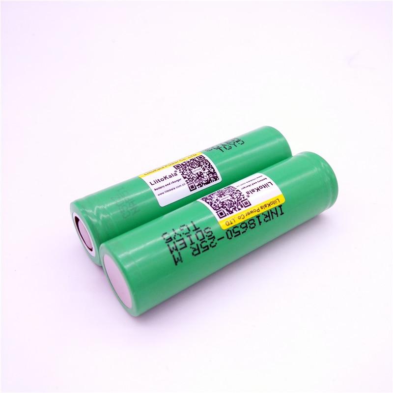Image 3 - بطارية ليثيوم 100 قطعة LiitoKala الأصلية 18650 25R M INR1865025R 20A ، بطارية طاقة 2500mAhبطاريات قابلة للشحن   -
