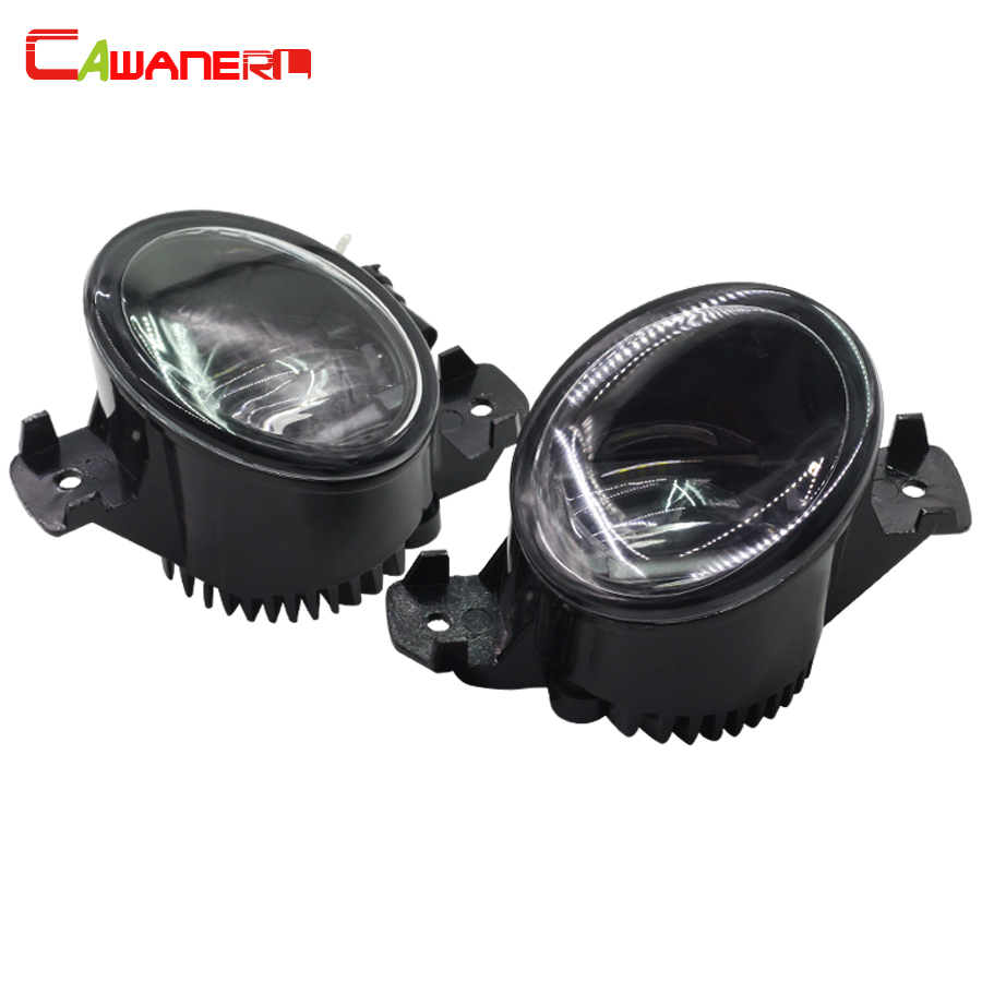 Cawanerl 2 X Car Fog Light LED Daytime Running Lamp DRL 12V Styling For Renault Laguna Clio Vel Satis Modus Master Thalia Symbol cawanerl car styling led lamp fog light daytime running light drl 12v dc 2 pieces for renault scenic 2 ii jm0 jm1 mpv 2003 2009