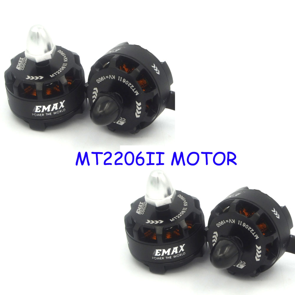 4pcs EMAX MT2206 1900KV Brushless Motor for Dron drone qav250 quadrocopter quadcopter QAV300 FPV Racing Quadcopter 2CW 2CCW FPV original emax rs1104 5250kv brushless motor t2345 tri blades propellers cw ccw props for 130 rc brushless racer drone q20400