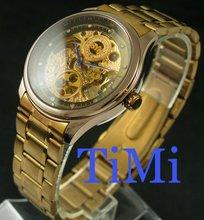 De Oro rosa de Acero Automático Reloj Mecánico del Mens