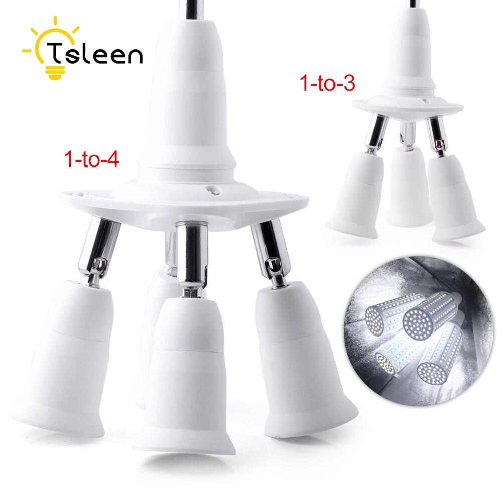 TSLEEN Promotion! Lamp Holder Bulb Holder E27 E14 B22 GU1O Socket Base Extend Splitter Plug Halogen Light Lamp Adapter Converter