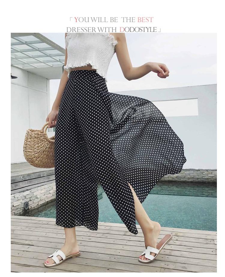 7 11 3 Chiffon Sanya 1 Leg 2 Thai 9 6 8 10 Sunscreen Wide 5 Beach 4 Pants Tourism Bohemia Casual Flower qTFwCf