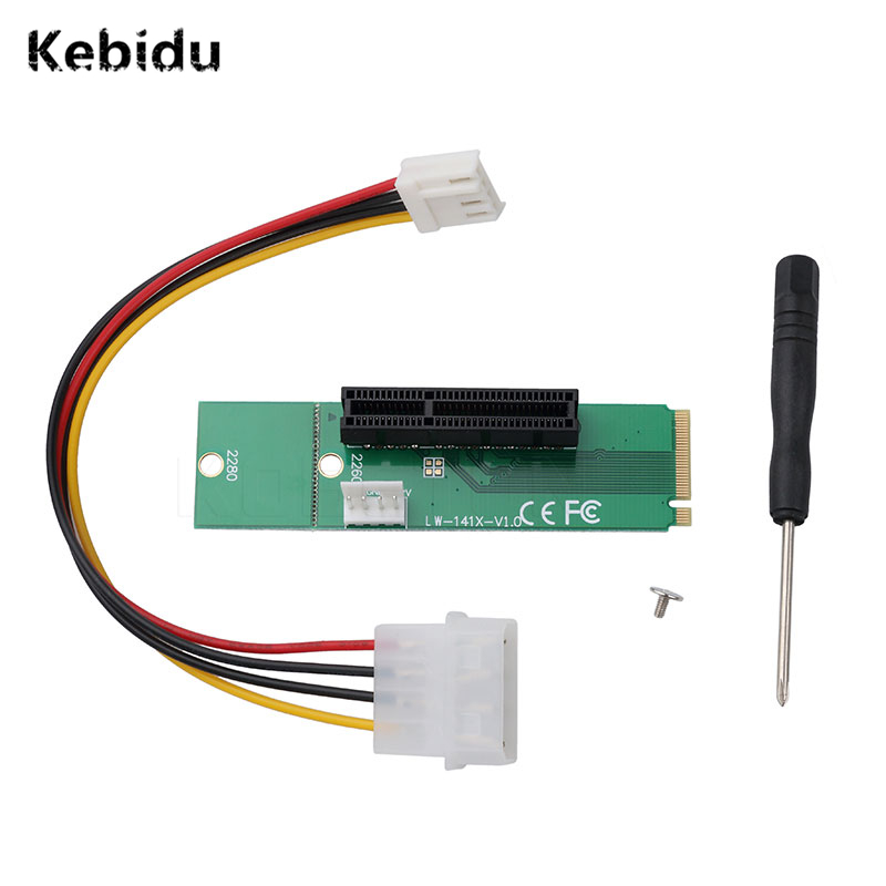 Kebidu Profession Wholesale NGFF M2 to PCI e 4x Slot Riser Card M key M.2 SSD Port to PCI Express adapter Convertor|Computer Cables & Connectors| - AliExpress