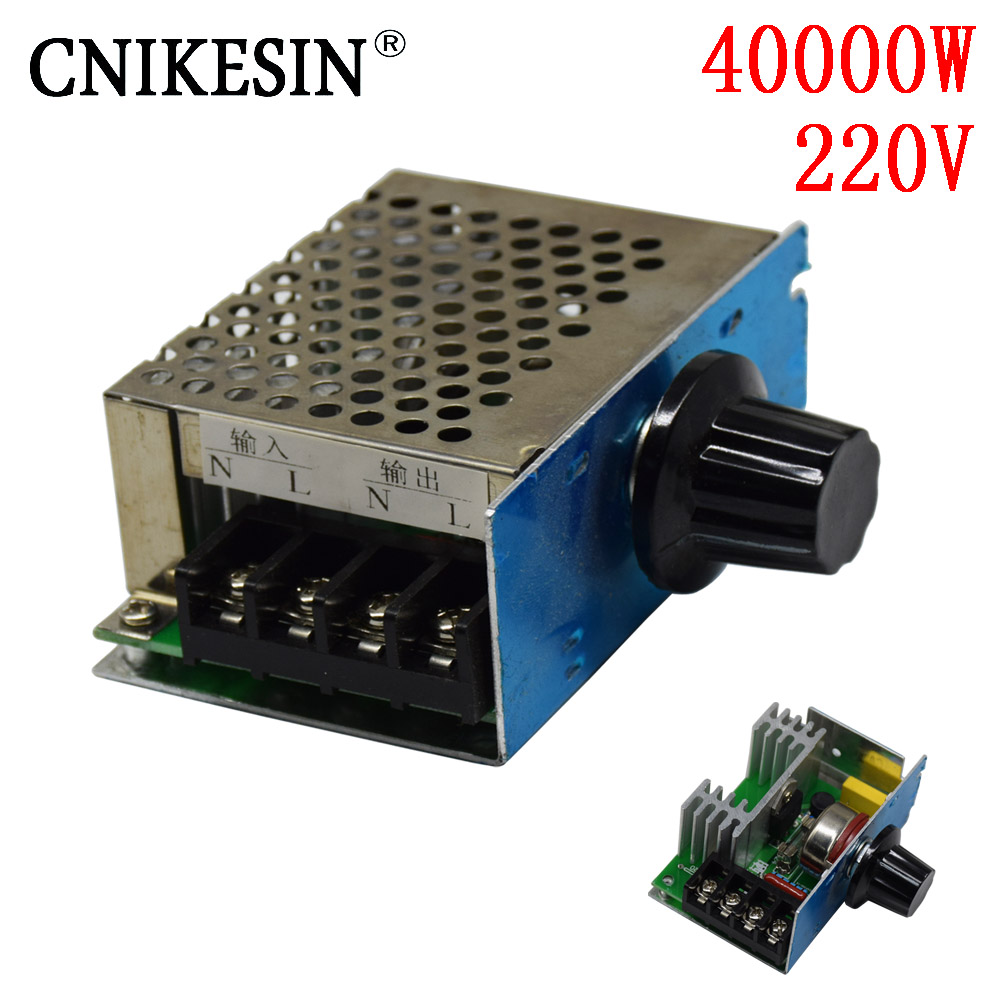 CNIKESIN 4000W 220 Voltage regulator imports Voltage Speed Controller SCR Dimmer dimming speed thermostat 220V + Shell AC 400W