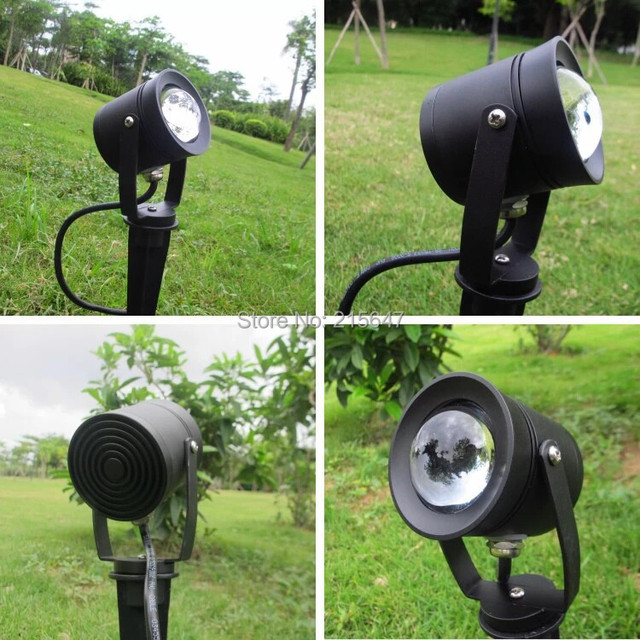 Free Shipping 2pcs 12v Round Garden Landscape Fixture In Ground Mounting Led Flood Light With Spike