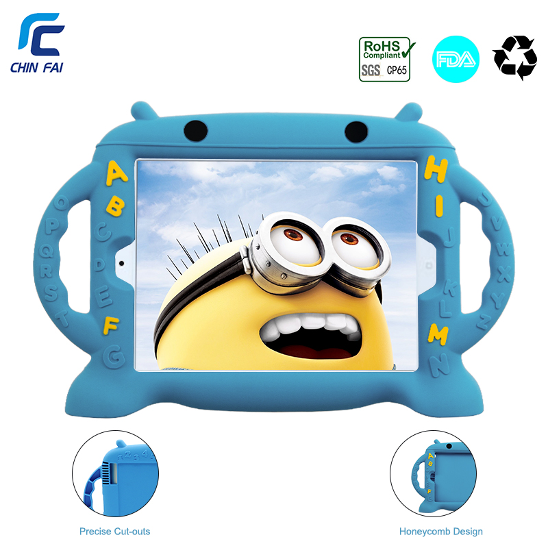Chinfai Silicone Case for iPad 2 Kids Soft Case for iPad 4 Shockproof Case for iPad 2 3 4 Dropproof Case for iPad4 9.7'' Tablet u20 20 3 silicone case