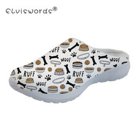 ELVISWORDS Gog Bone Paw Printing Women's Beach Sandals Breathable Mesh Slippers Female Lightweight Casual Shoes zapatos de mujer